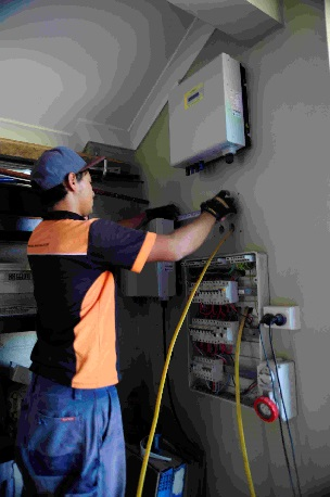install the inverter and meter box